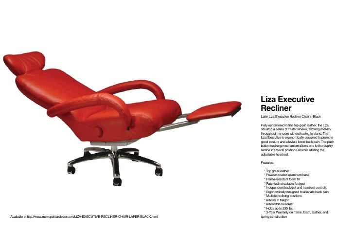 ... adjusting reclining positions; 10. Liza Executive ...  sc 1 st  SlideShare & Lafer Recliners - MetropolitanDecor.com islam-shia.org