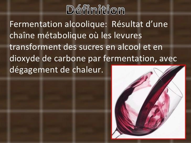 La Fermentation Alcoolique Slide 2