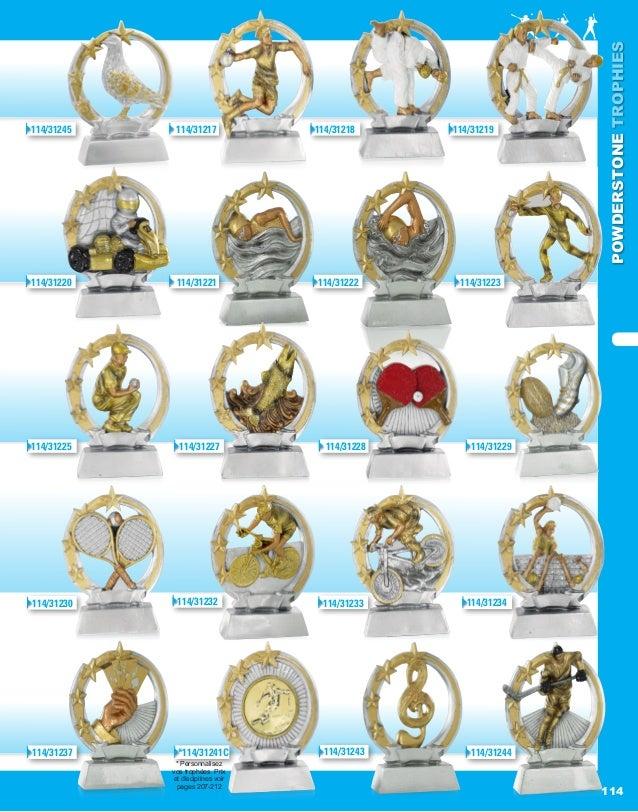 POWDERSTONETROPHIES 114 * Personnalisez vos trophées. Prix et disciplines voir pages 207-212 114/31217114/31245 114/31218 ...