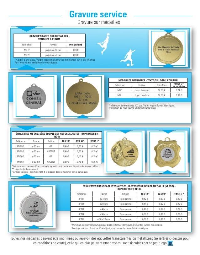 Toutes nos médailles peuvent être imprimées ou recevoir des étiquettes transparentes ou métallisées (se référer ci-dessus ...