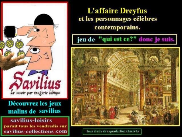 Jeu L'affaire Dreyfus et ses contemporains