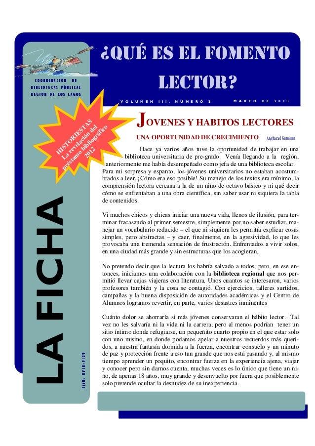 ¿QUÉ ES EL FOMENTO COORDINACIÓN   DEBIBLIOTECAS PÚBLICASREGION DE LOS LAGOS                                               ...