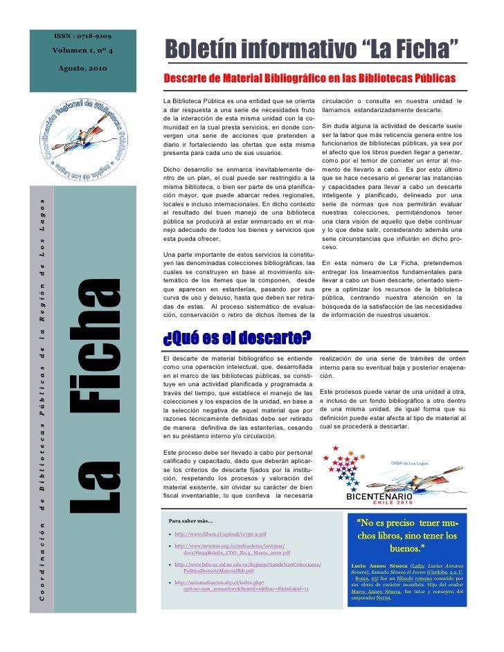 ISSN : 0718-9109                            Volumen 1, nº 4                                              Boletín informati...