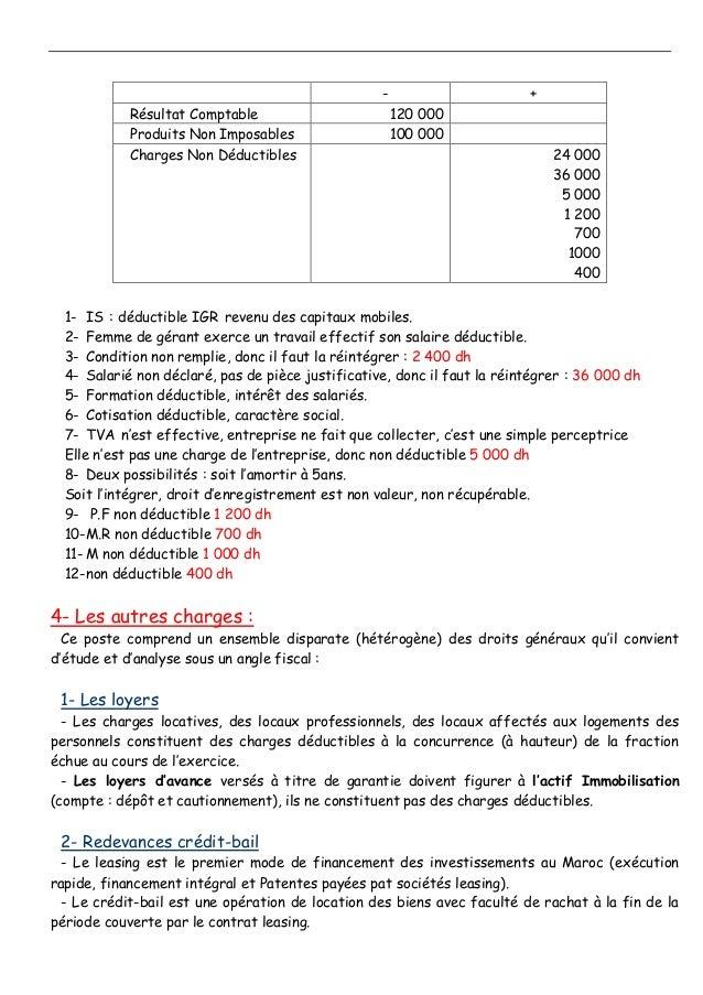- + Résultat Comptable 120 000 Produits Non Imposables 100 000 Charges Non Déductibles 24 000 36 000 5 000 1 200 700 1000 ...