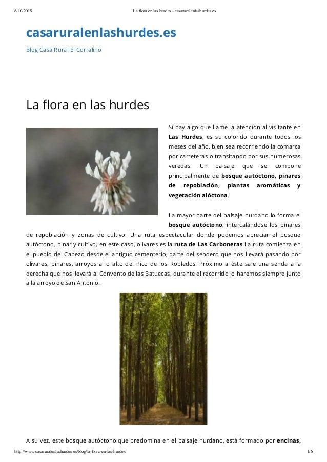 8/10/2015 La flora en las hurdes - casaruralenlashurdes.es http://www.casaruralenlashurdes.es/blog/la-flora-en-las-hurdes/...