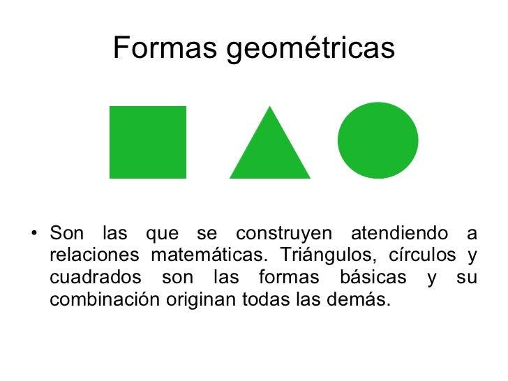 La forma for Las formas geometricas