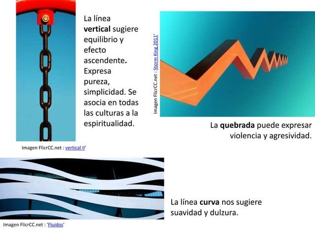 La línea refuerza la  expresividad de una  imagen mediante la  variación en el trazo,  la dirección respecto  al plano, el...