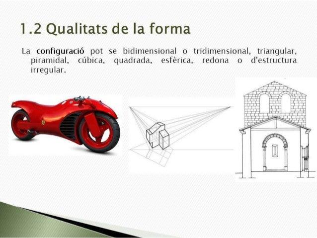 1.2 Qualitats de la forma  La configuració pot se bidimensional o tridimensional,  triangular,  piramidal,  cúbica,  quadr...
