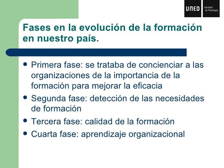 La formación en las organizaciones Slide 2