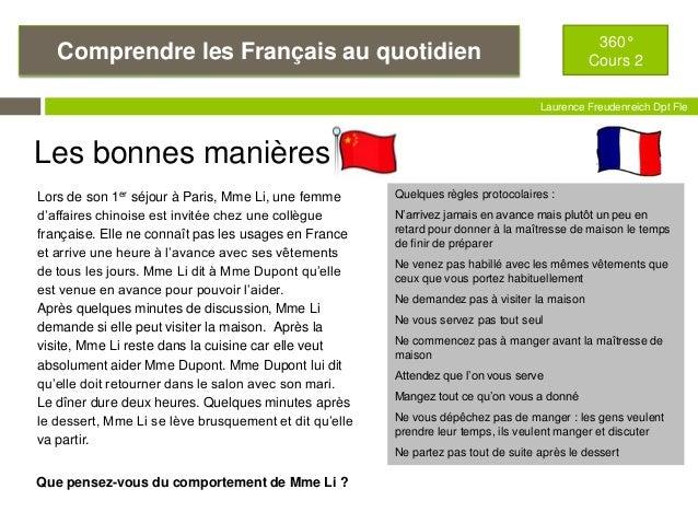 La france 360 cours 2 les fran ais - Les bonnes manieres a table en france ...