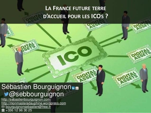 LA FRANCE FUTURE TERRE D'ACCUEIL POUR LES ICOS ? Sébastien Bourguignon @sebbourguignon http://sebastienbourguignon.com/ ht...