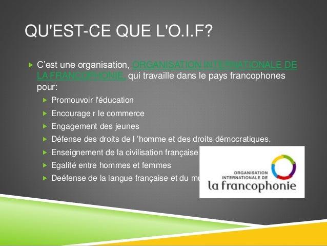 La Francophonie - Raúl Díaz González Slide 3