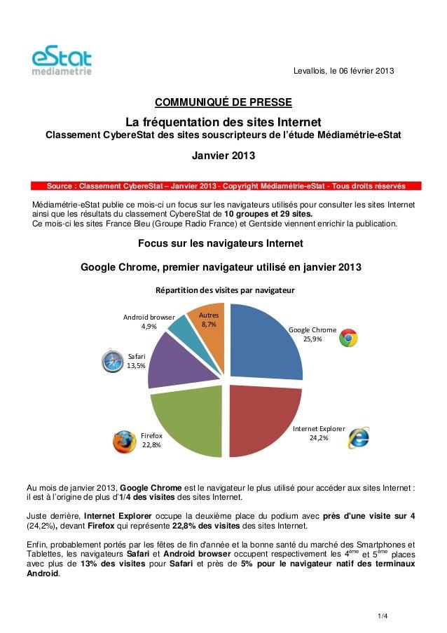 Levallois, le 06 février 2013                                    COMMUNIQUÉ DE PRESSE                           La fréquen...
