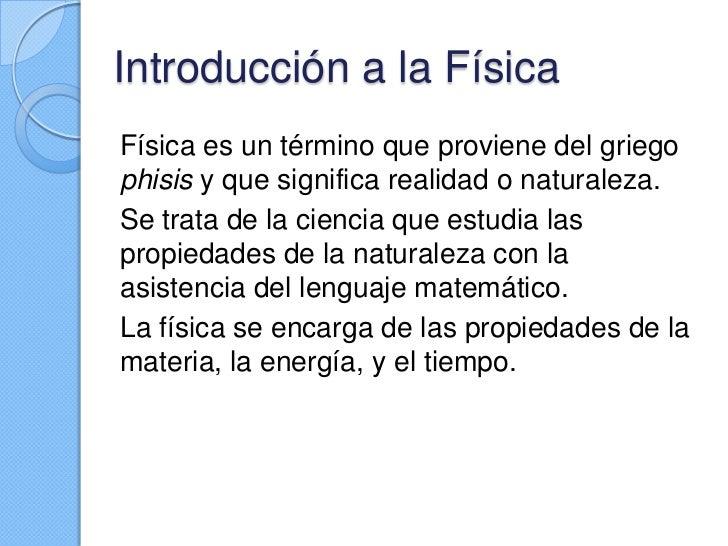 La física Slide 2