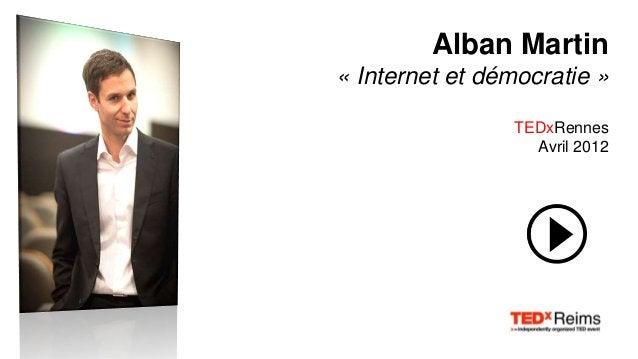 Alexis Ohanian « Comment faire un carton sur les médias sociaux » TED Conference Novembre 2009