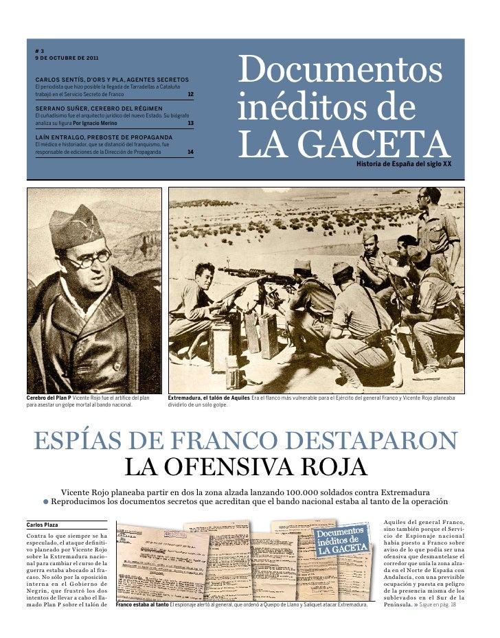 Documentos   #3   9 de octubre de 2011    Carlos sentís, d'ors y pla, agentes seCretos                                    ...