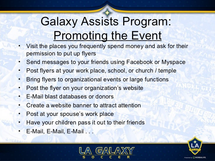Galaxy Assists Program : Next Steps1. Contact your Galaxy representative (contact information is attached).2. Select your ...
