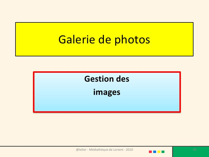 La galerie de photos