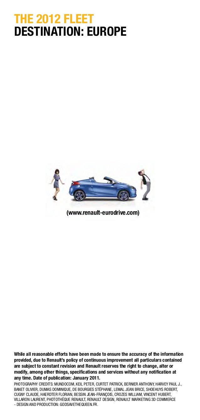 Car Rental In Europe Download Broucher