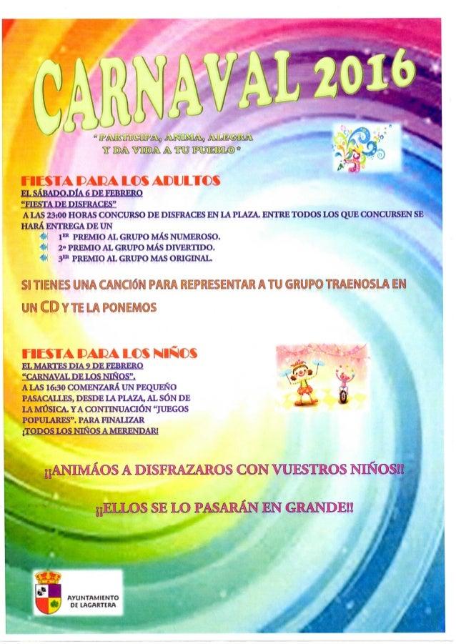 Lagartera Carnaval 2016