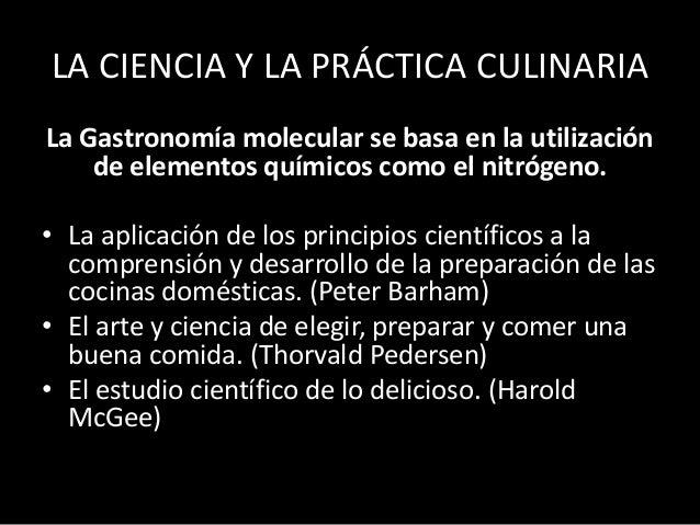 La gastronom a molecular nora graciela modolo for Padre de la cocina molecular