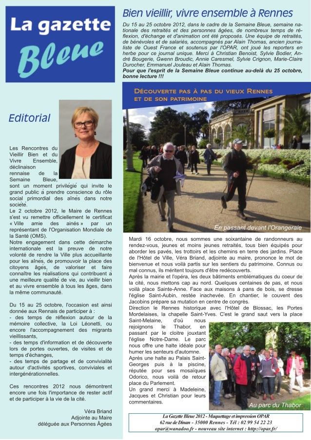 La Gazette Bleue 2012