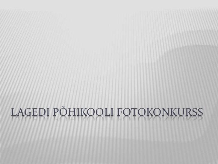 LAGEDI PÕHIKOOLI FOTOKONKURSS