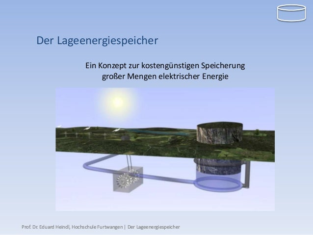 Der Lageenergiespeicher                             Ein Konzept zur kostengünstigen Speicherung                           ...