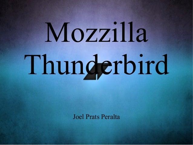 Mozzilla Thunderbird Joel Prats Peralta