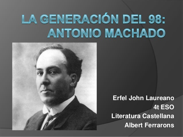 Erfel John Laureano               4t ESOLiteratura Castellana     Albert Ferrarons