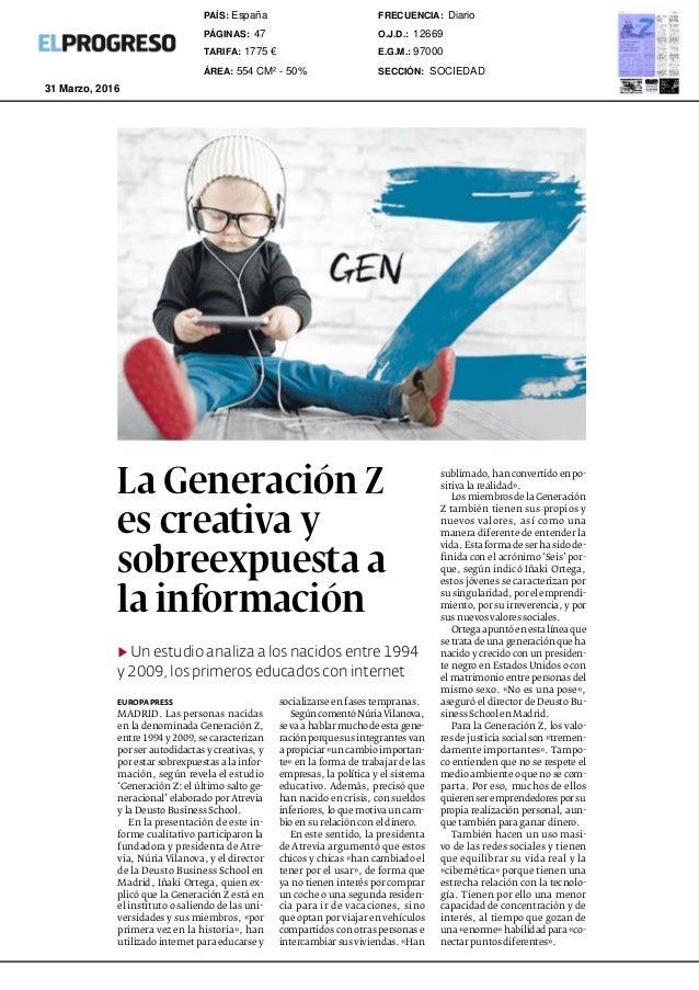 La Generación Z es creativa y sobreexpuesta a la información ▶ Un estudio analiza a los nacidos entre 1994 y 2009, los pri...