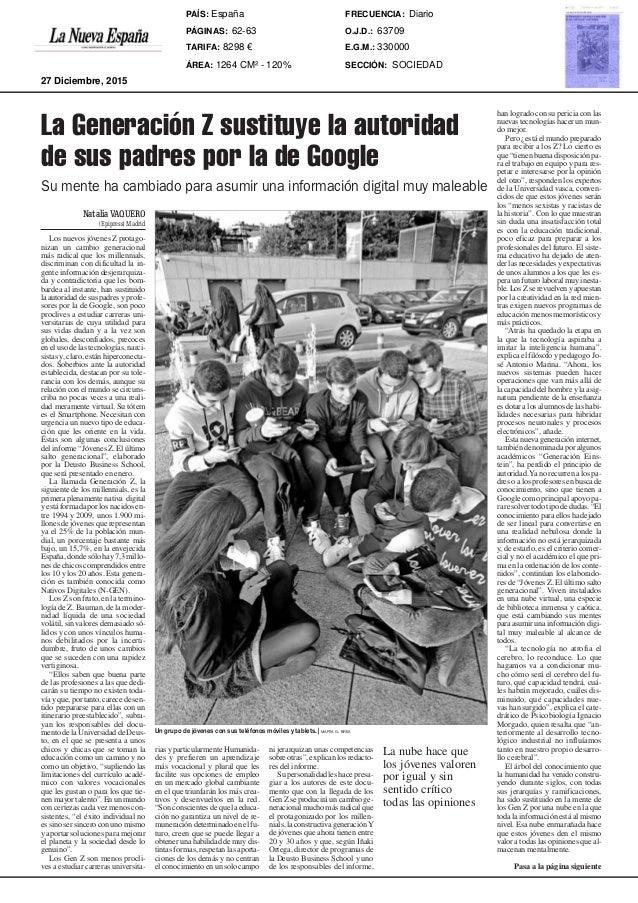 62 |LA NUEVA ESPAÑA Sociedad, Cultura y Ocio Domingo, 27 de diciembre de 2015 NataliaVAQUERO (Epipress) Madrid Los nuevos ...