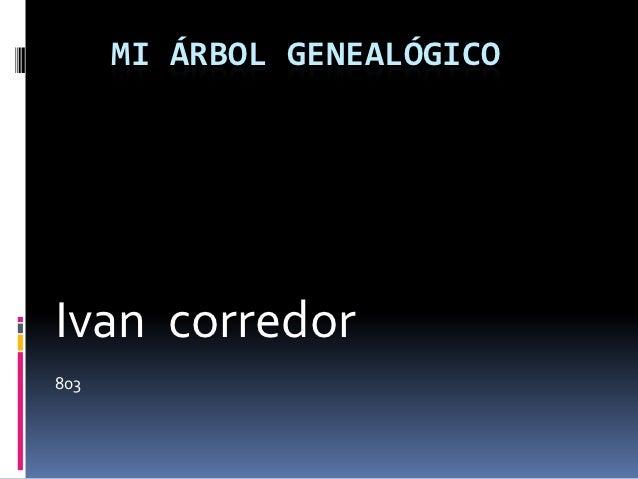 MI ÁRBOL GENEALÓGICOIvan corredor803