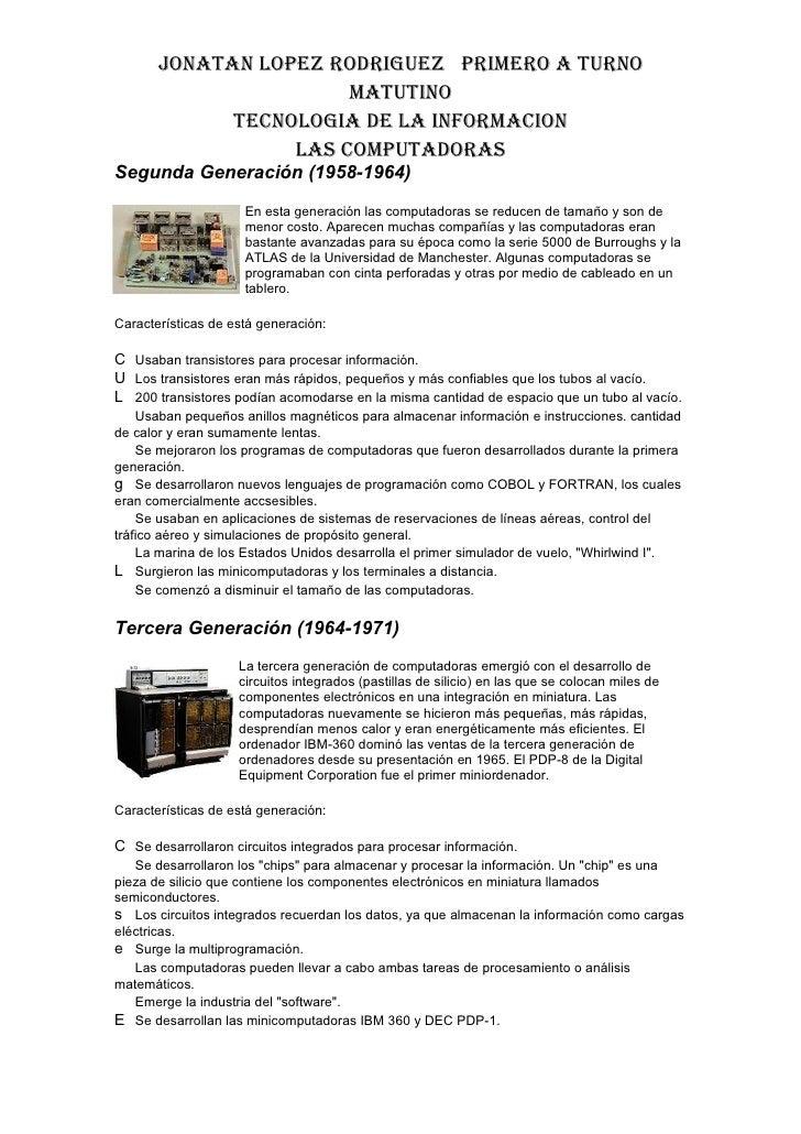 La Generacion De La Computadora Slide 2