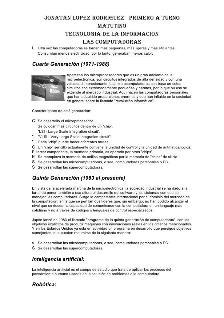 La Generacion De La Computadora Slide 3
