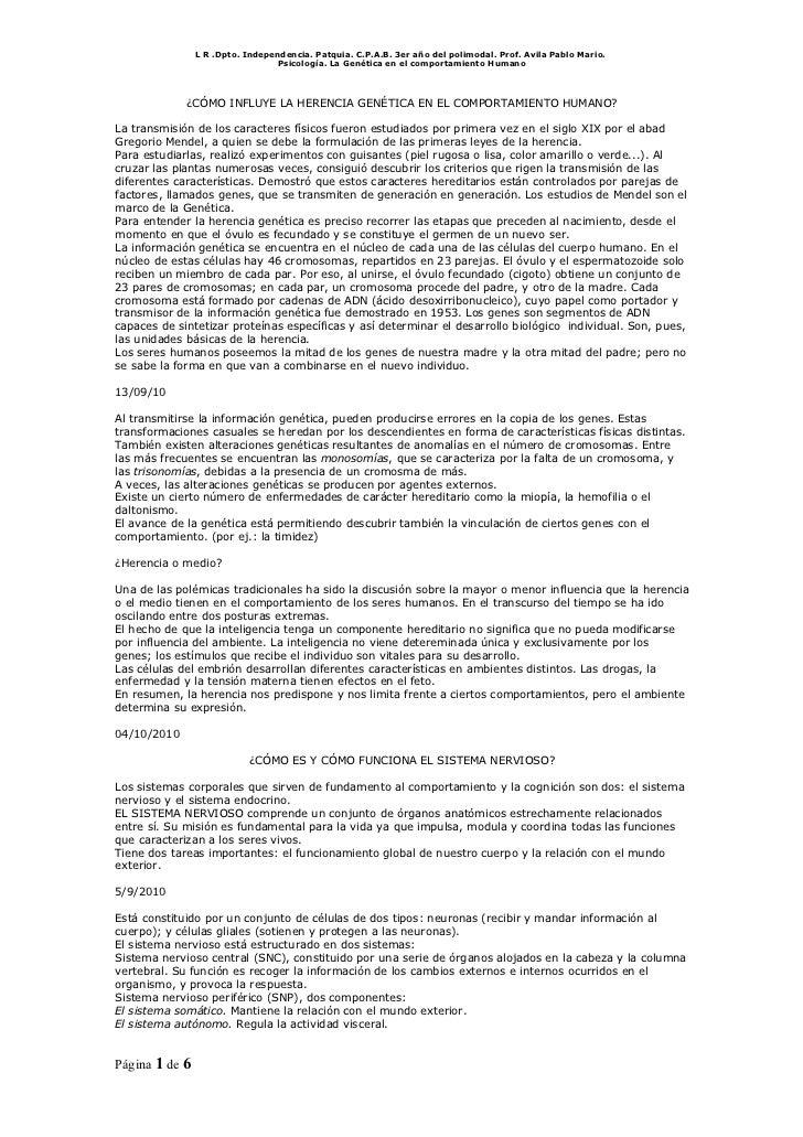 L R .Dpto. Independencia. Patquia. C.P.A.B. 3er año del polimodal. Prof. Avila Pablo Mario.                               ...