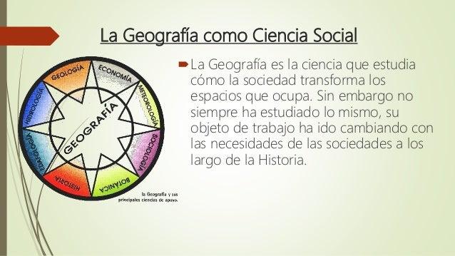 La Geografia Como Ciencia Social