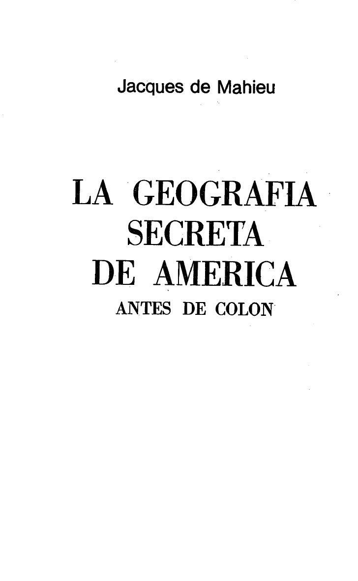 La geografia secreta de america   jacques de mahieu