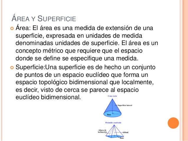 La geometria - Definition de superficie ...