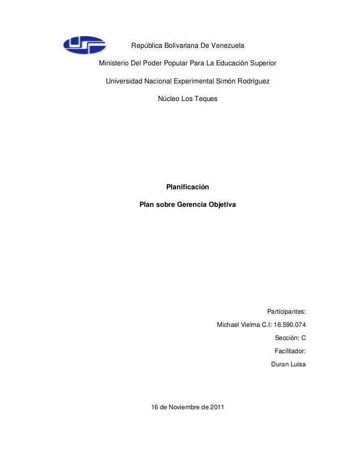 República Bolivariana De VenezuelaMinisterio Del Poder Popular Para La Educación Superior  Universidad Nacional Experiment...