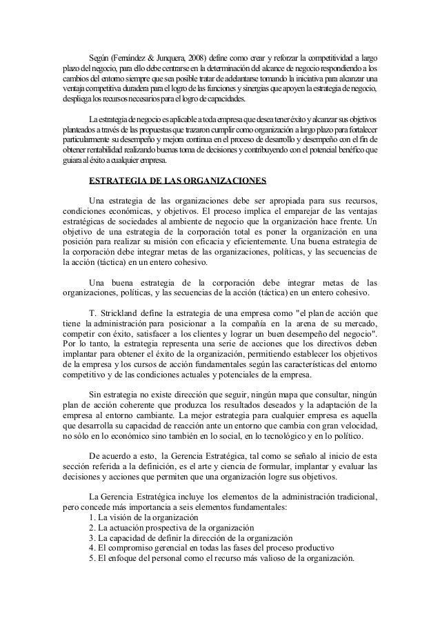 LA GERENCIA ESTRATEGICA APLICADA A LAS EMPRESAS PEQUEÑAS Slide 2