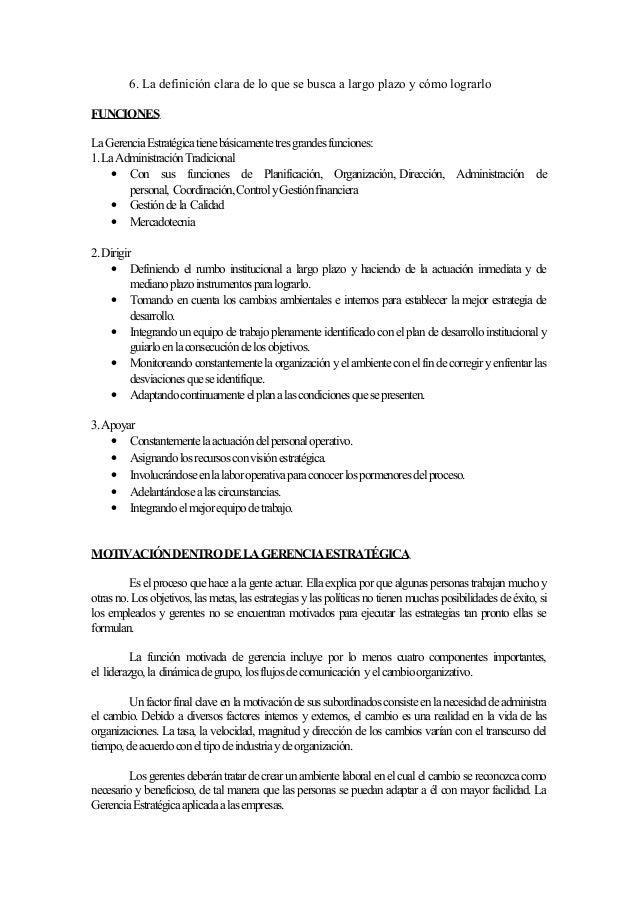LA GERENCIA ESTRATEGICA APLICADA A LAS EMPRESAS PEQUEÑAS Slide 3