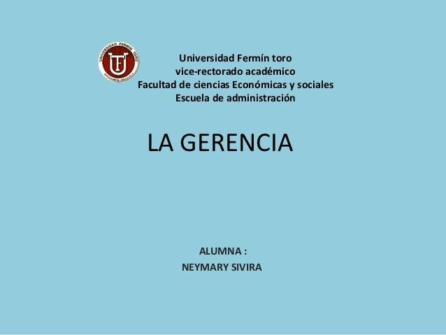 Universidad Fermín toro        vice-rectorado académicoFacultad de ciencias Económicas y sociales        Escuela de admini...