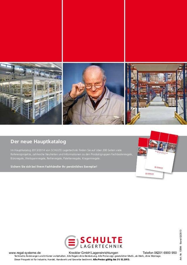 Lagertechnik Aktionspreise 2013 gültig bis Ende des Jahres