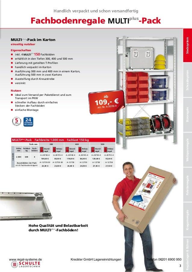 Handlich verpackt und schon versandfertig                            Fachbodenregale MULTIplus-Pack                       ...