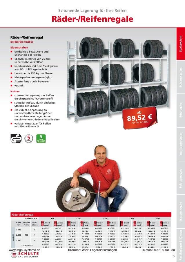Schonende Lagerung für Ihre Reifen                                                    Räder-/Reifenregale Räder-/Reifenreg...