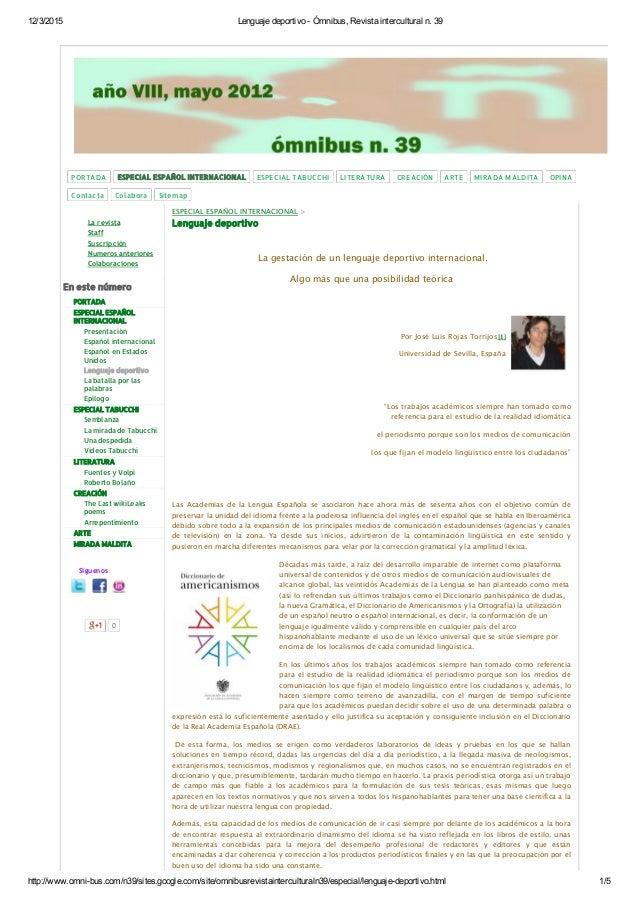 12/3/2015 LenguajedeportivoÓmnibus,Revistainterculturaln.39 http://www.omnibus.com/n39/sites.google.com/site/omni...