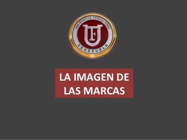 LA IMAGEN DE LAS MARCAS
