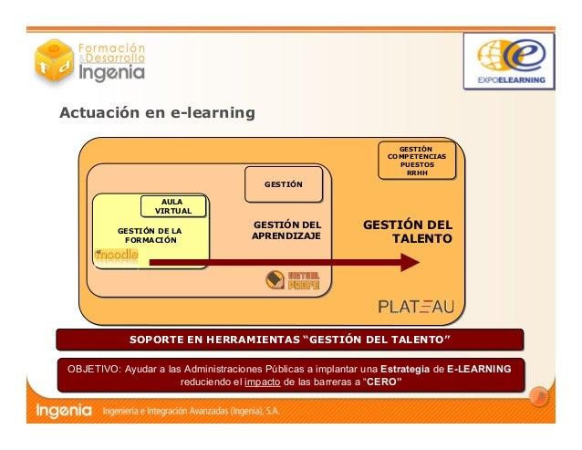 La gestión del e-learning en la Administración Pública Slide 3