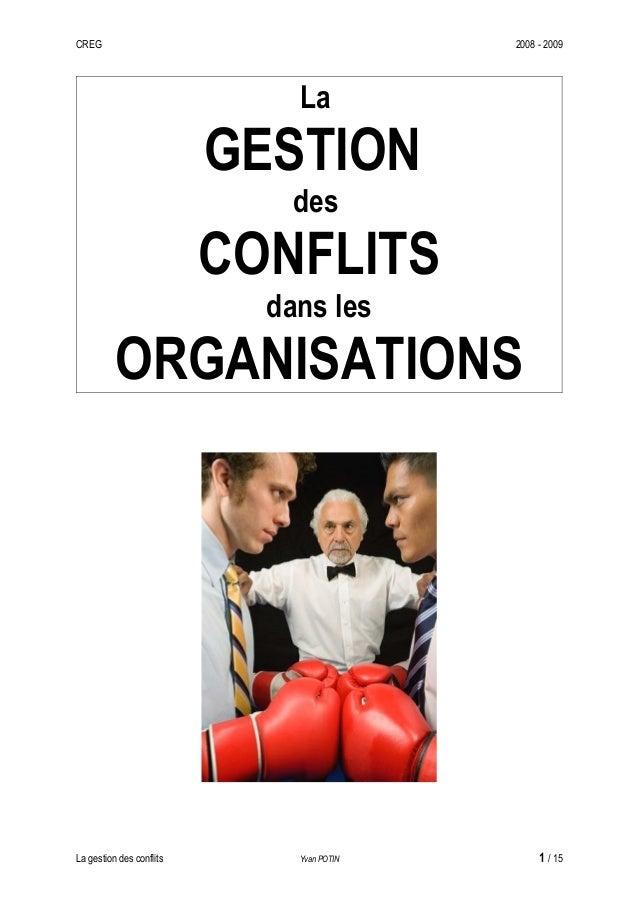 CREG                                       2008 - 2009                              La                          GESTION   ...
